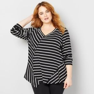Avenue Patchwork stripe french Terry top 26/28